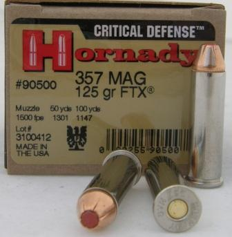 357 Mag Hornady Critical Defense ammo